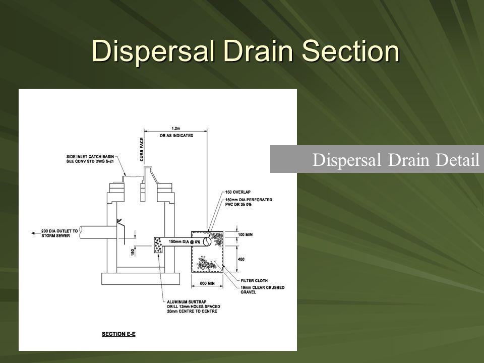 Dispersal Drain Section Dispersal Drain Detail