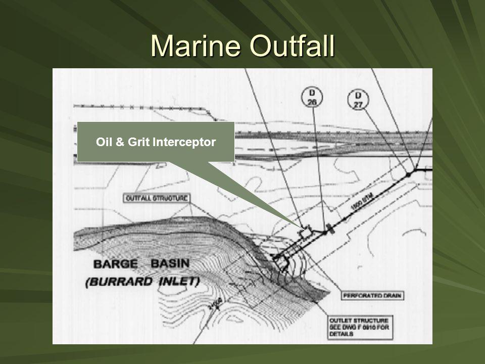 Marine Outfall Oil & Grit Interceptor