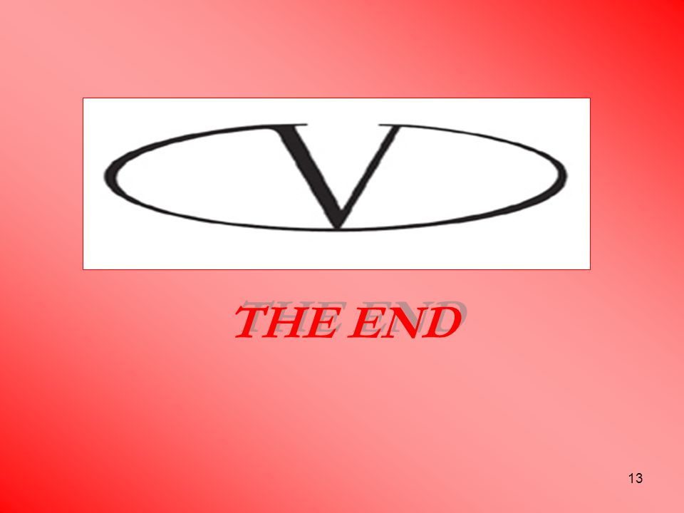 13 THE END