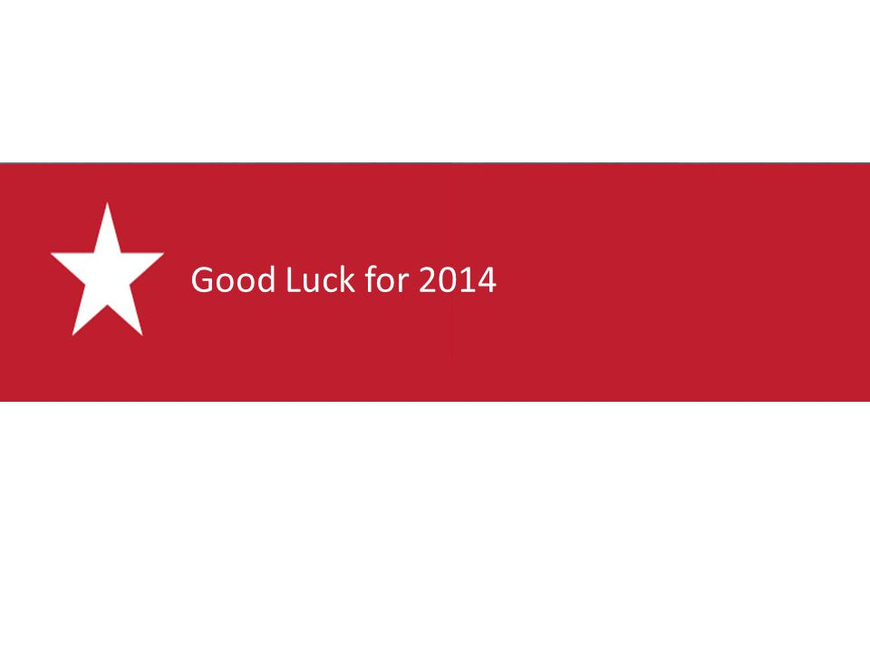 Good Luck for 2014