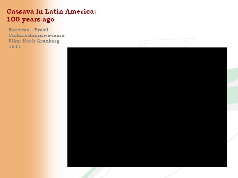 Roraima – Brasil Cultura Kamaiwa-merú Film: Koch Grunberg 1911 Cassava in Latin America: 100 years ago