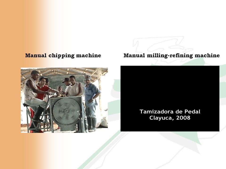Manual chipping machineManual milling-refining machine