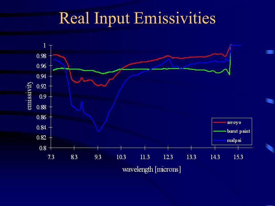 Real Input Emissivities