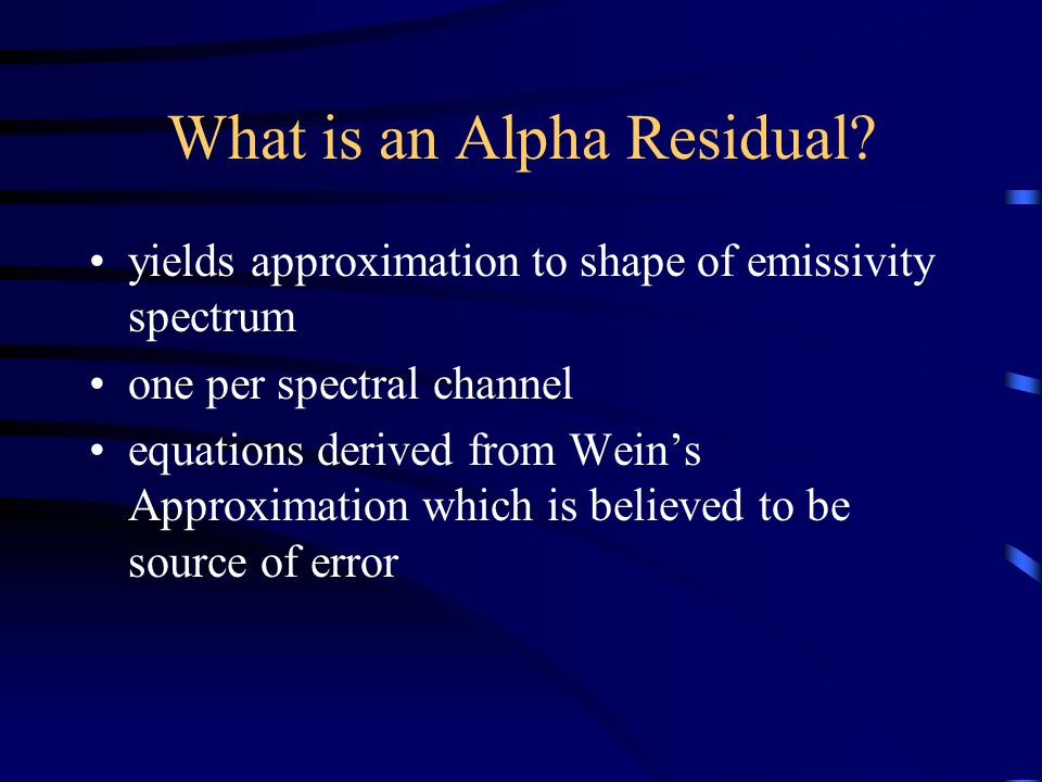 What is an Alpha Residual.