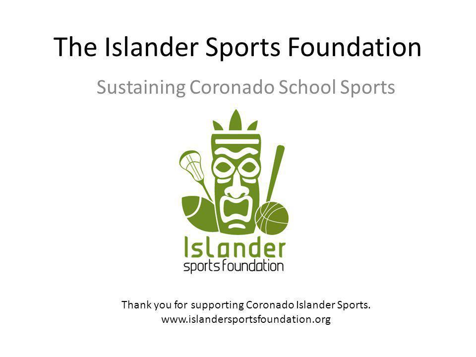 The Islander Sports Foundation Sustaining Coronado School Sports Thank you for supporting Coronado Islander Sports.