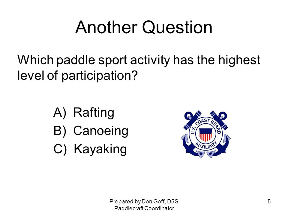 Quiz How many people participate in paddle sports annually.