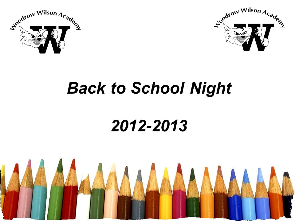Back to school night free powerpoint template 2 woodrow wilson 1 back to school night 2012 2013 toneelgroepblik Gallery