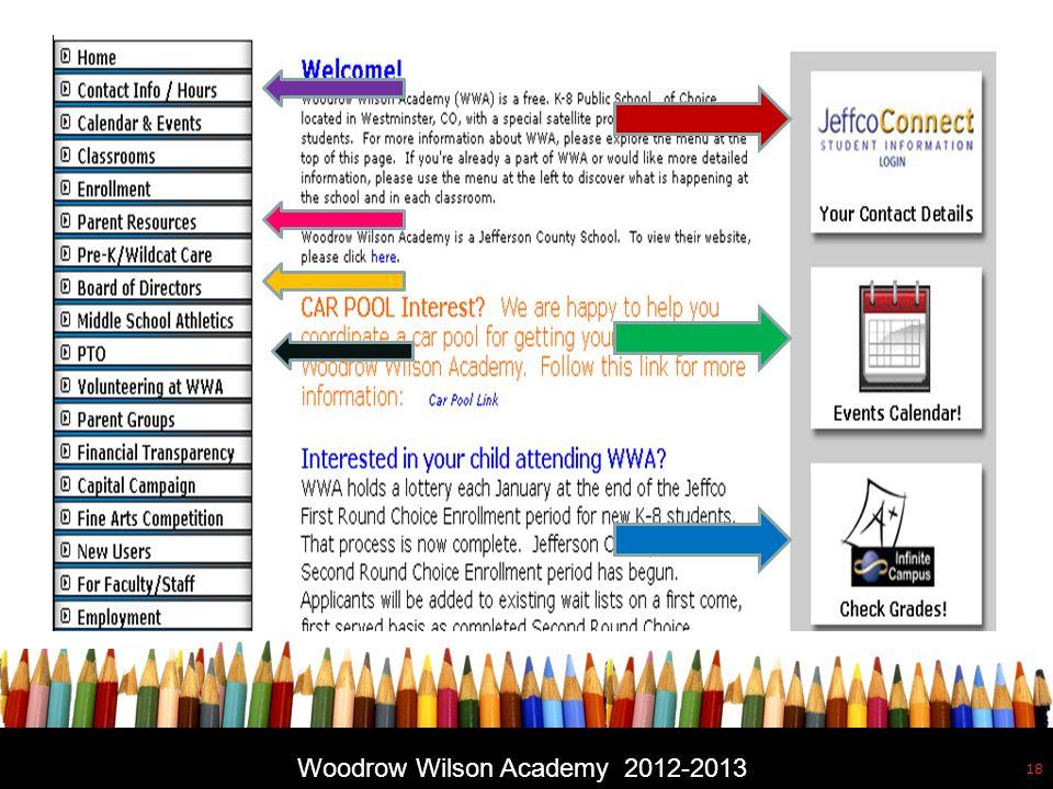 Free powerpoint template: www.brainybetty.com 18 Woodrow Wilson Academy 2012-2013