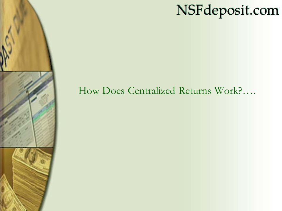 NSFdeposit.com Daily Returns by Stamp Summary by Day and Stamp View and download report by Day/Stamp Number
