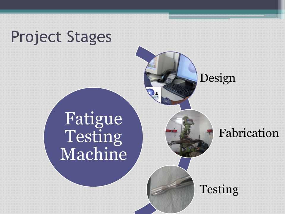 Project Stages Fatigue Testing Machine Design Fabrication Testing