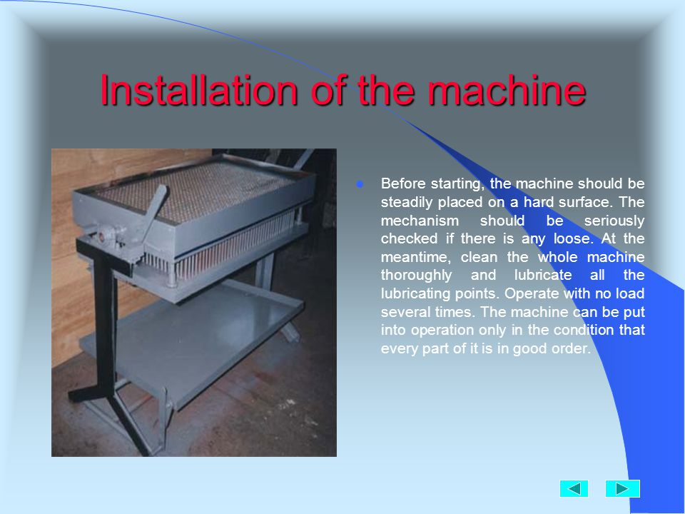 How about the machine!. 1.