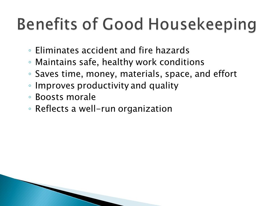 ◦ Slips, trips, and falls ◦ Fires ◦ Chemical and machine accidents ◦ Injuries from electrical problems ◦ Collisions and falling objects ◦ Health problems