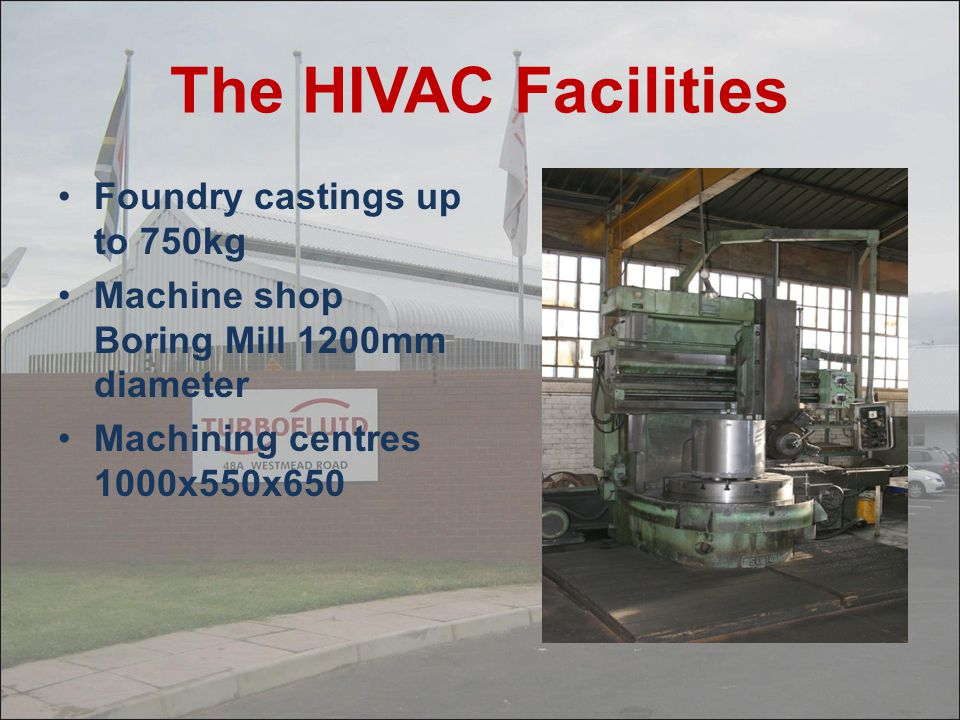 About HIVAC They have their own foundry on site In 2002 they introduced Single Stage Pumps with variable discharge valves up to 2800m³/hr