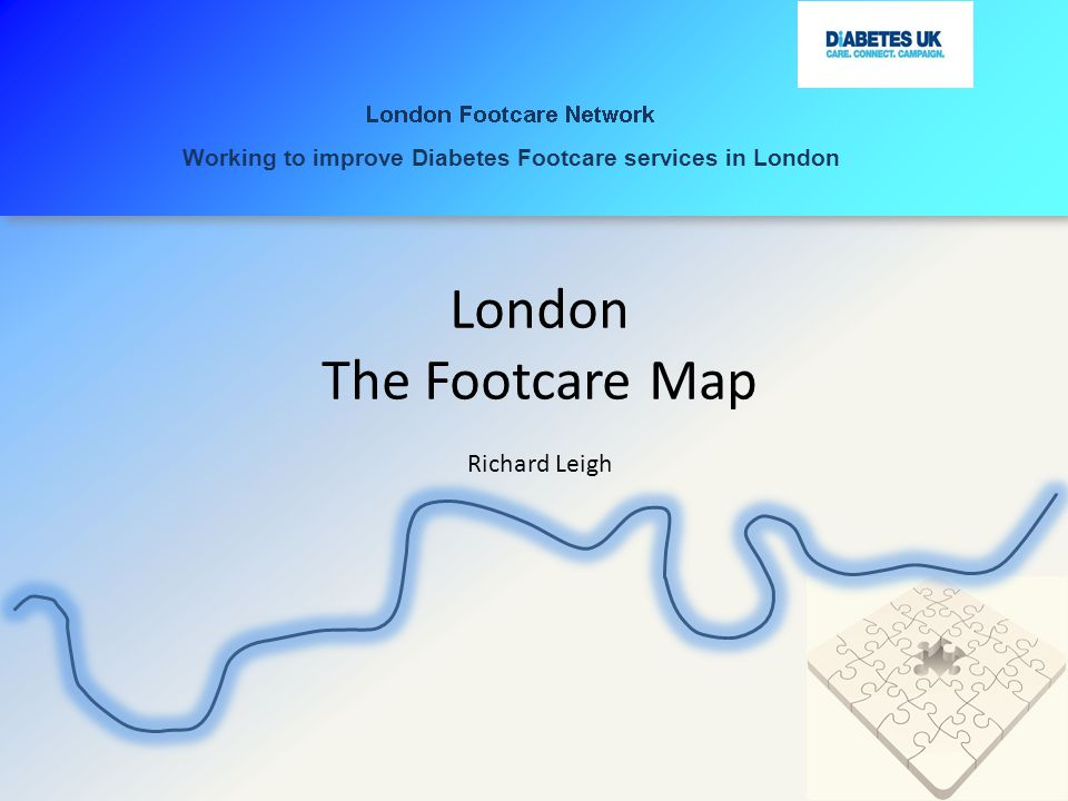 London The Footcare Map Richard Leigh Working to improve Diabetes Footcare services in London