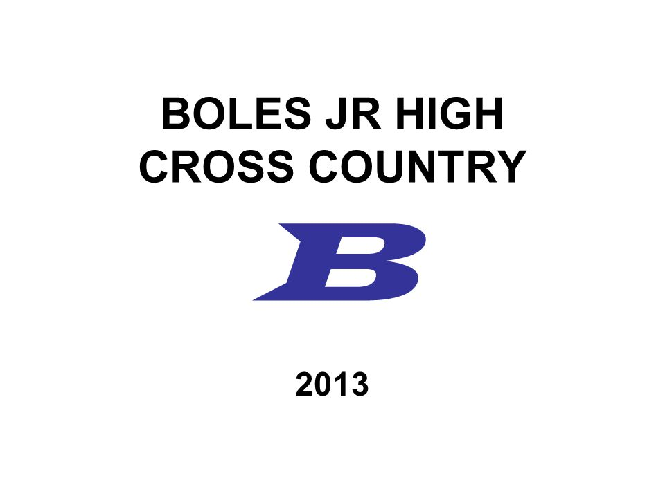 BOLES JR HIGH CROSS COUNTRY B 2013