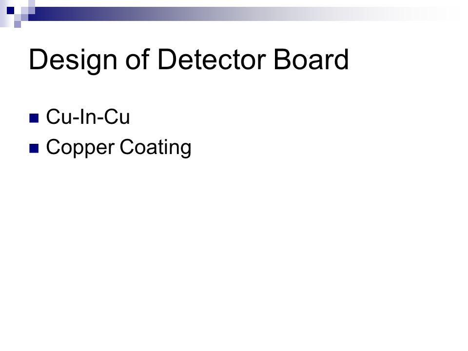 Design of Detector Board Cu-In-Cu Copper Coating