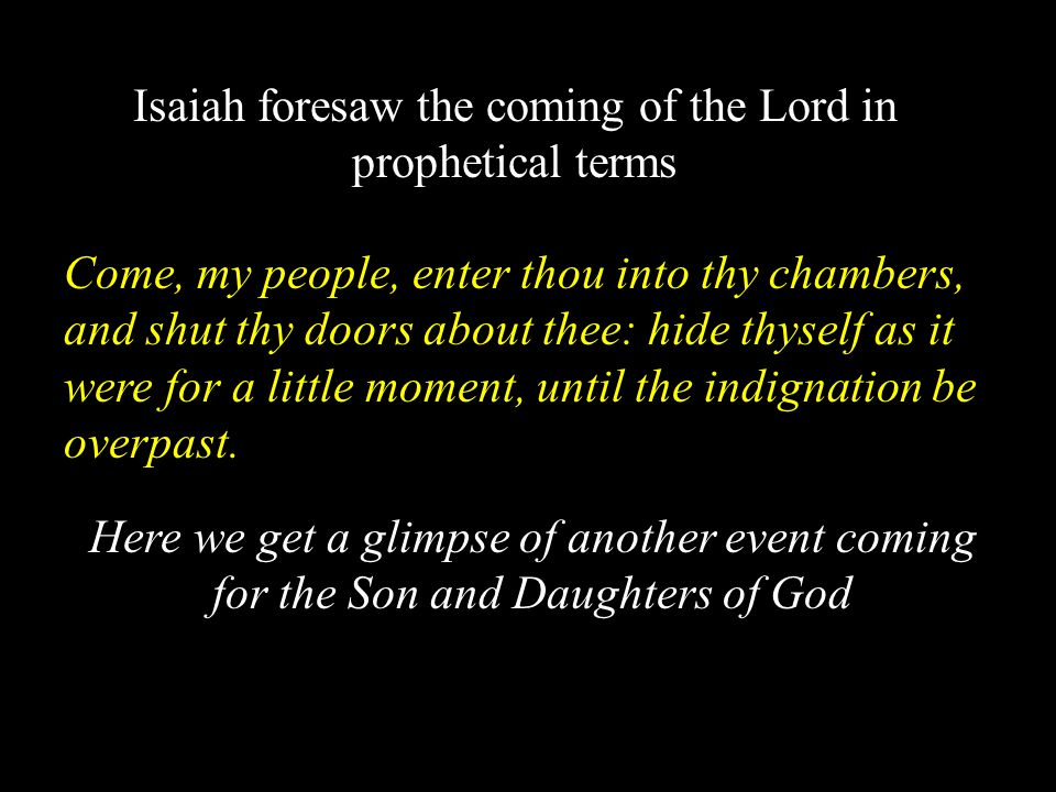 Revelations 19:6-9 The Wedding Supper of the Lamb