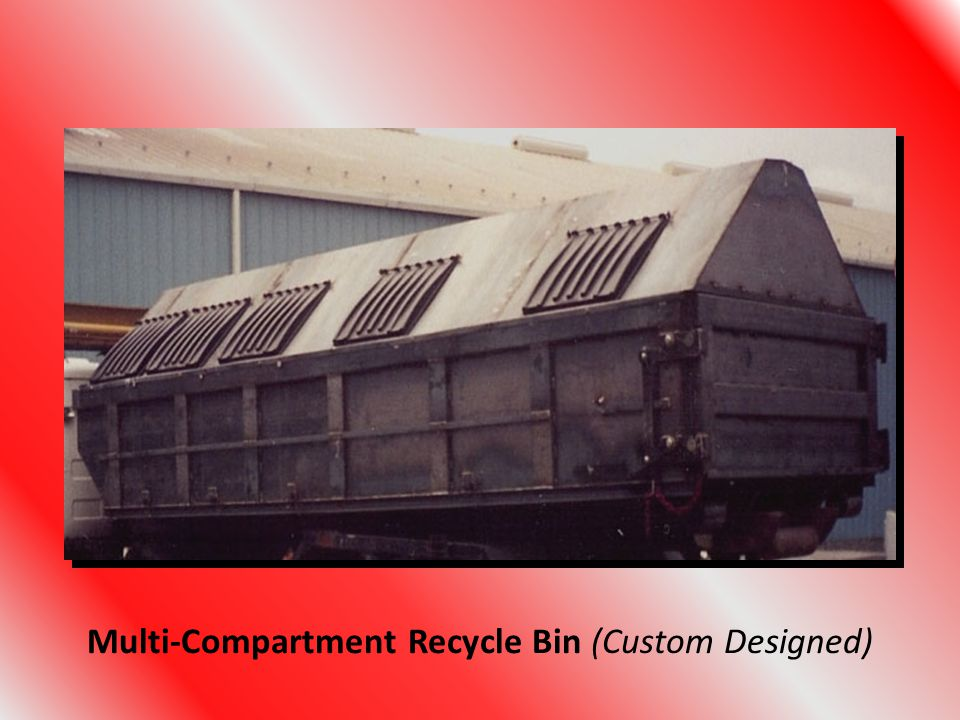 Multi-Compartment Recycle Bin (Custom Designed)