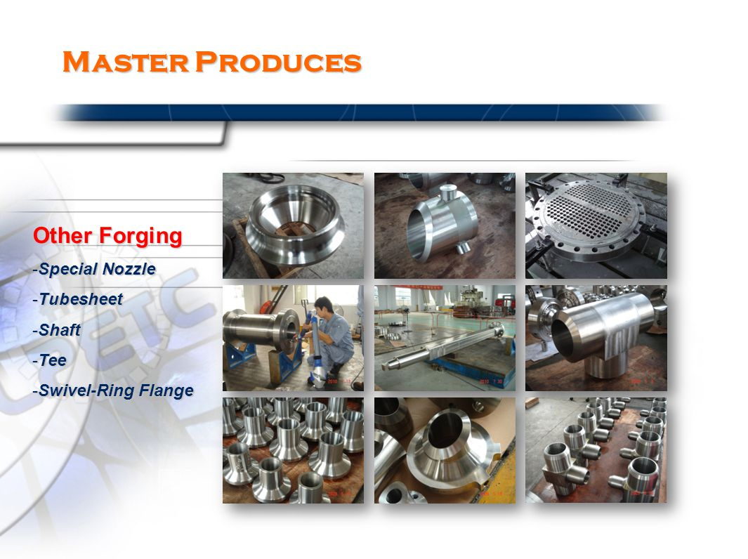 Master Produces Other Forging -Special Nozzle -Tubesheet -Shaft -Tee -Swivel-Ring Flange