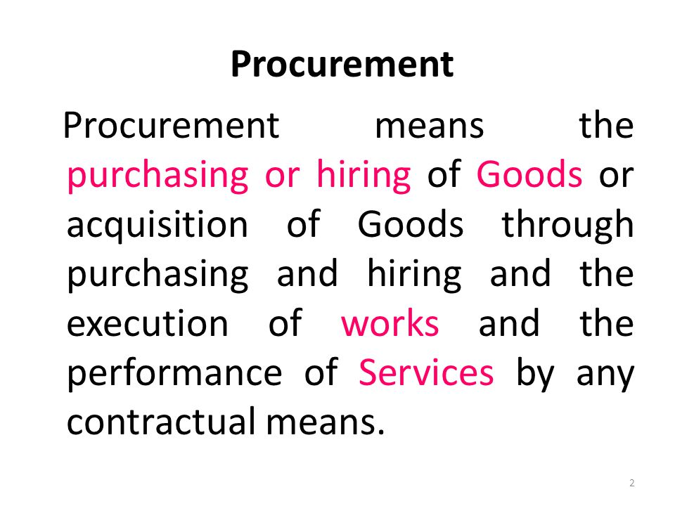 Some Findings in Procurement Audit contd.