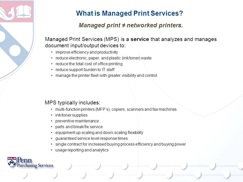 What is Managed Print Services.