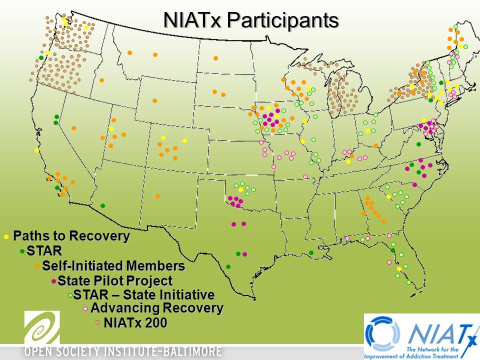Paths to Recovery STAR State Pilot Project Self-Initiated Members NIATx Participants STAR – State Initiative Advancing Recovery NIATx 200