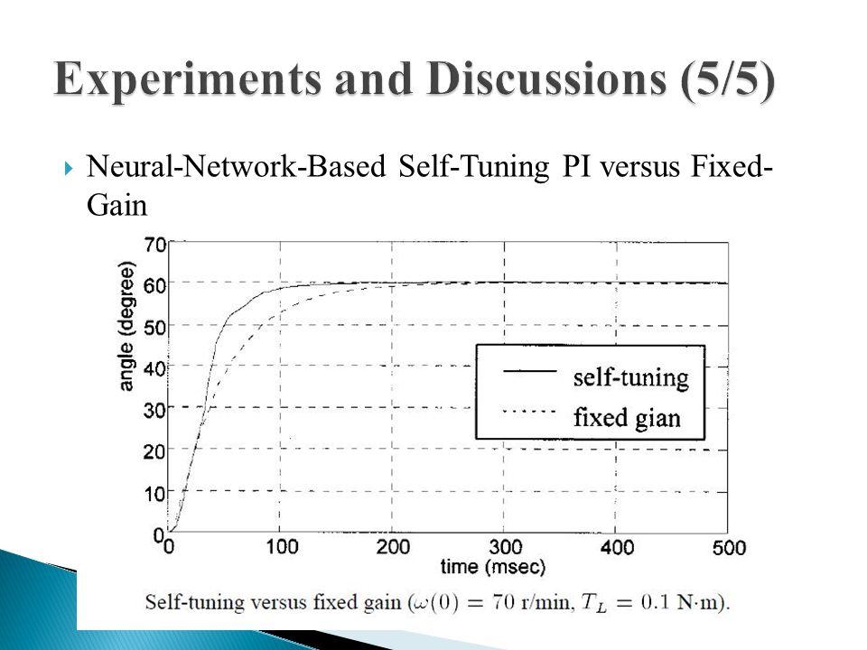  Neural-Network-Based Self-Tuning PI versus Fixed- Gain