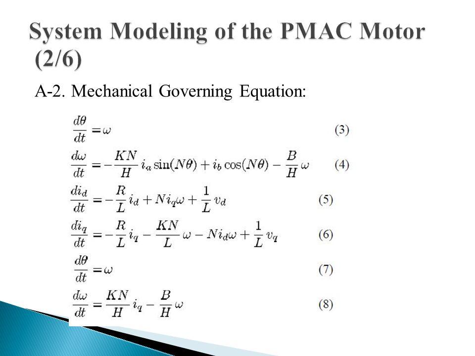 A-2. Mechanical Governing Equation: