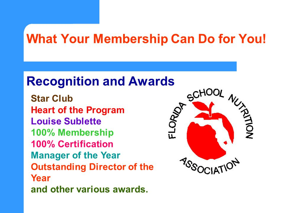 What Your Membership Can Do for You.