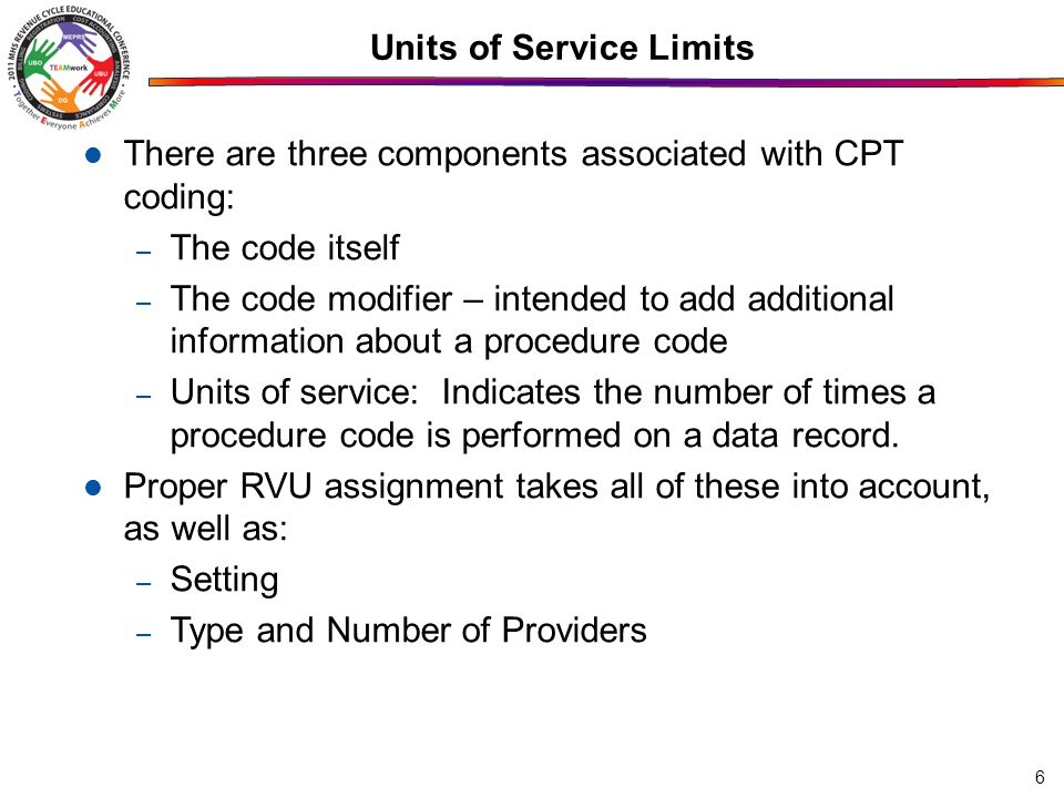 47 Group Service Records Group encounters require coding with special CPT or HCPCS to reflect that group counseling or other therapies are less effort per patient than individual care.