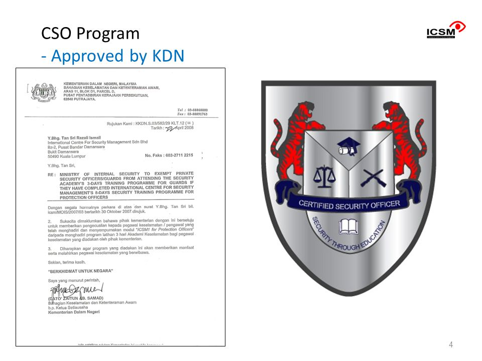 CSO Program - Approved by KDN 4