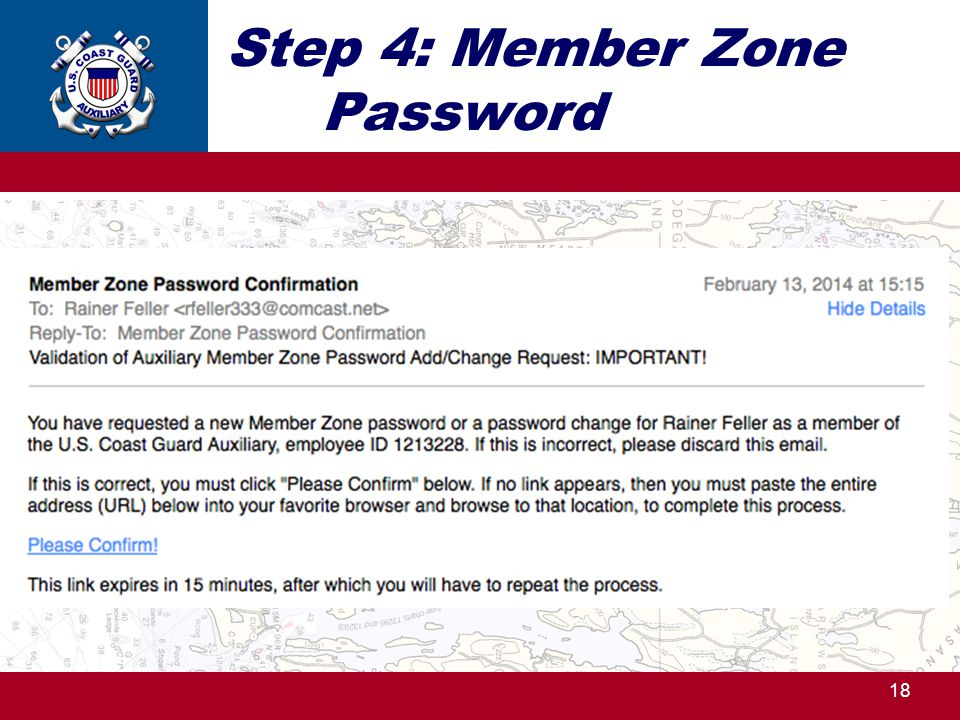 Step 4: Member Zone Password 18