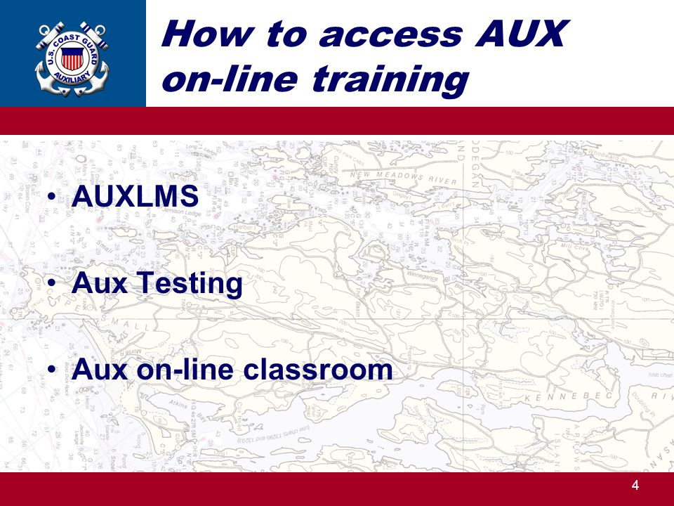 How to access AUX on-line training AUXLMS Aux Testing Aux on-line classroom 4