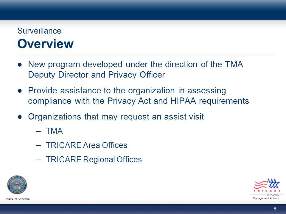 TRICARE Management Activity HEALTH AFFAIRS 6 Surveillance What is Surveillance.