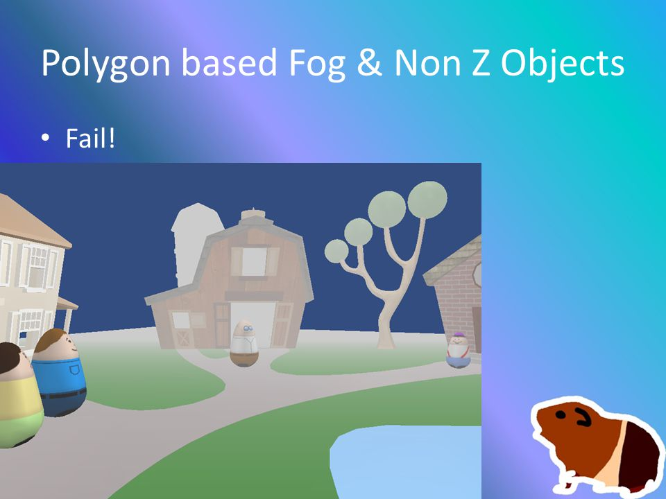 Polygon based Fog & Non Z Objects Fail!