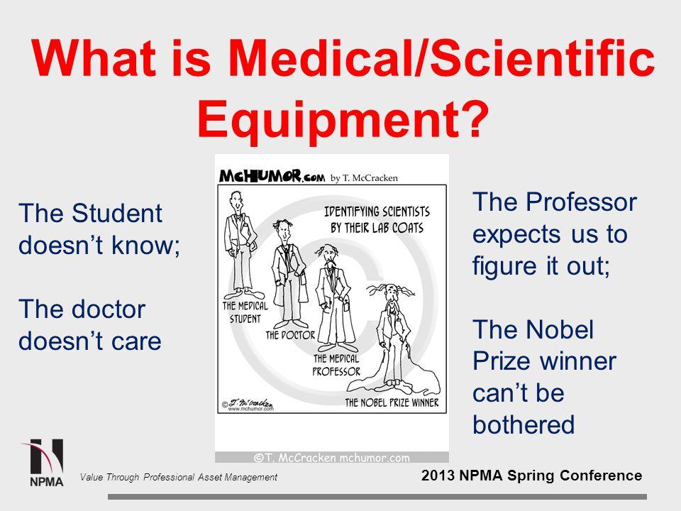 2013 NPMA Spring Conference Value Through Professional Asset Management Used Medical Equipment vs.