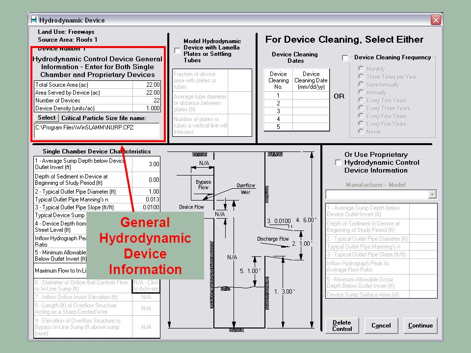 General Hydrodynamic Device Information