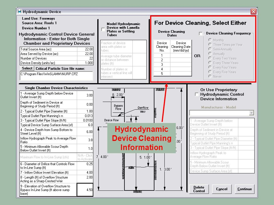 Hydrodynamic Device Cleaning Information