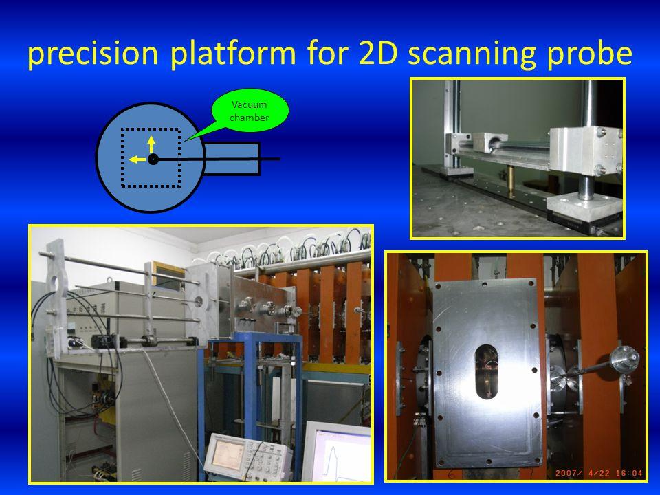 Vacuum chamber precision platform for 2D scanning probe
