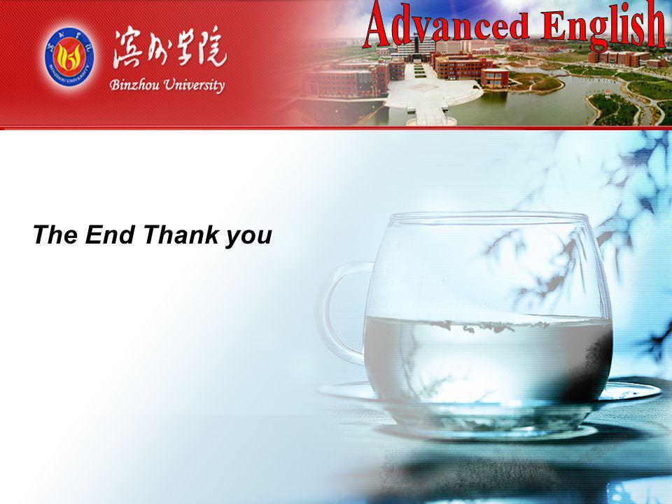 (一) 操 作 方 法 The End Thank you