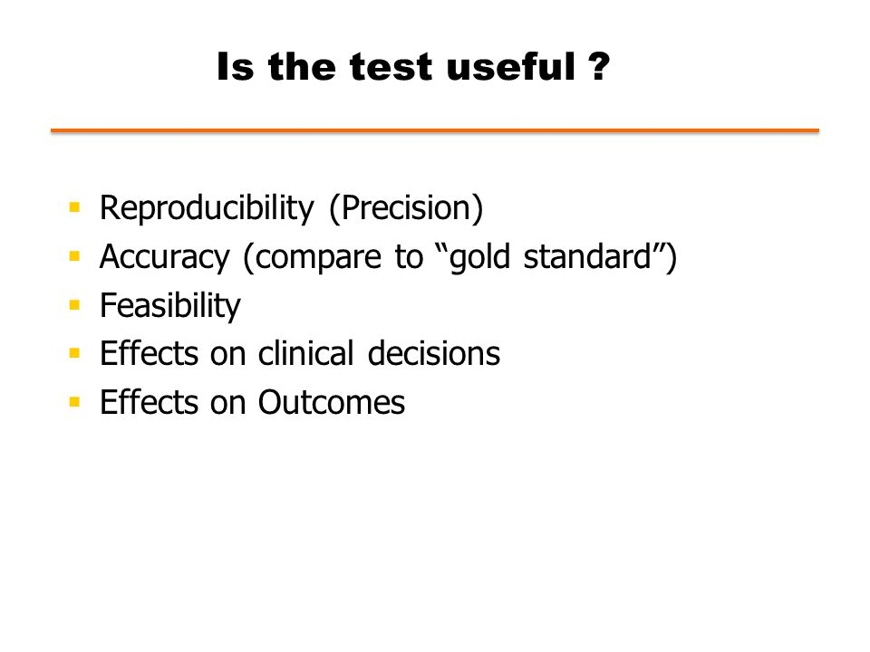 Is the test useful .