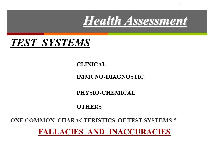 TEST SYSTEMS FALLACIES AND INACCURACIES TEST POSITIVES TEST NEGATIVES WHAT DOES IT MEAN .