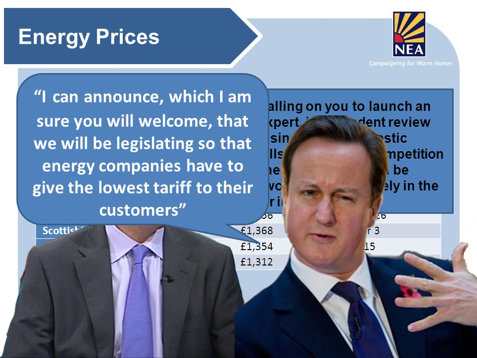 LTS@nea.org.ukLTS@nea.org.ukwww.nea.org.uk There have been some energy price rises announced and we expect more to follow. Energy Prices SupplierCurre