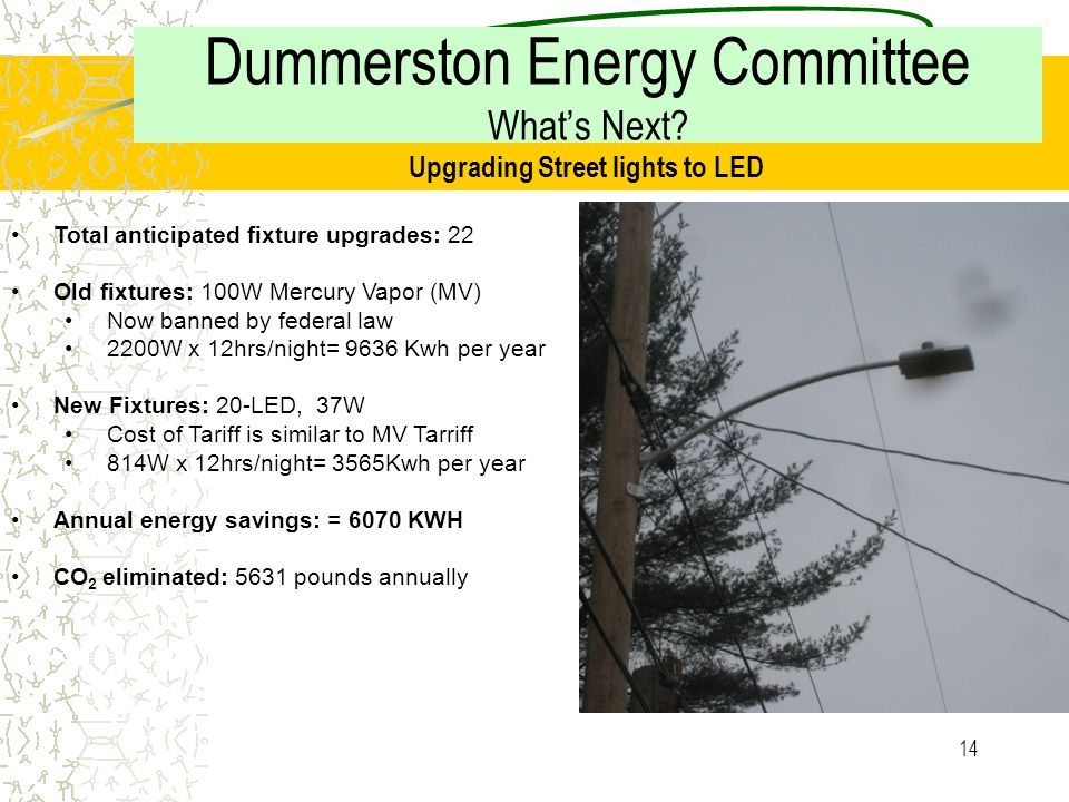 13 Dummerston Energy Committee What's Next.