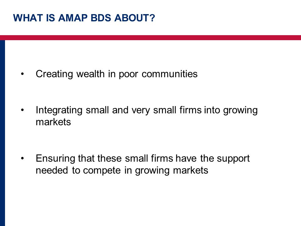 WHAT IS AMAP BDS ABOUT.
