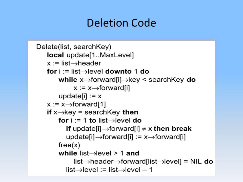 Deletion Code