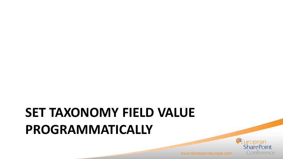 How to set a value of a Taxonomy field programmatically.