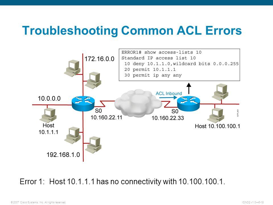 © 2007 Cisco Systems, Inc.
