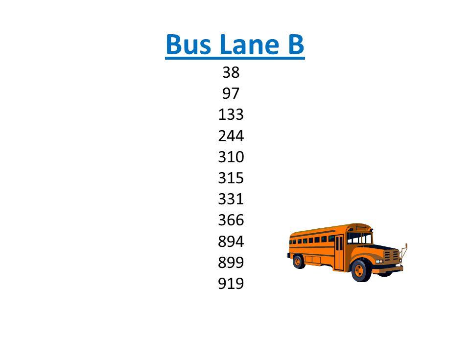 Bus Lane B 38 97 133 244 310 315 331 366 894 899 919