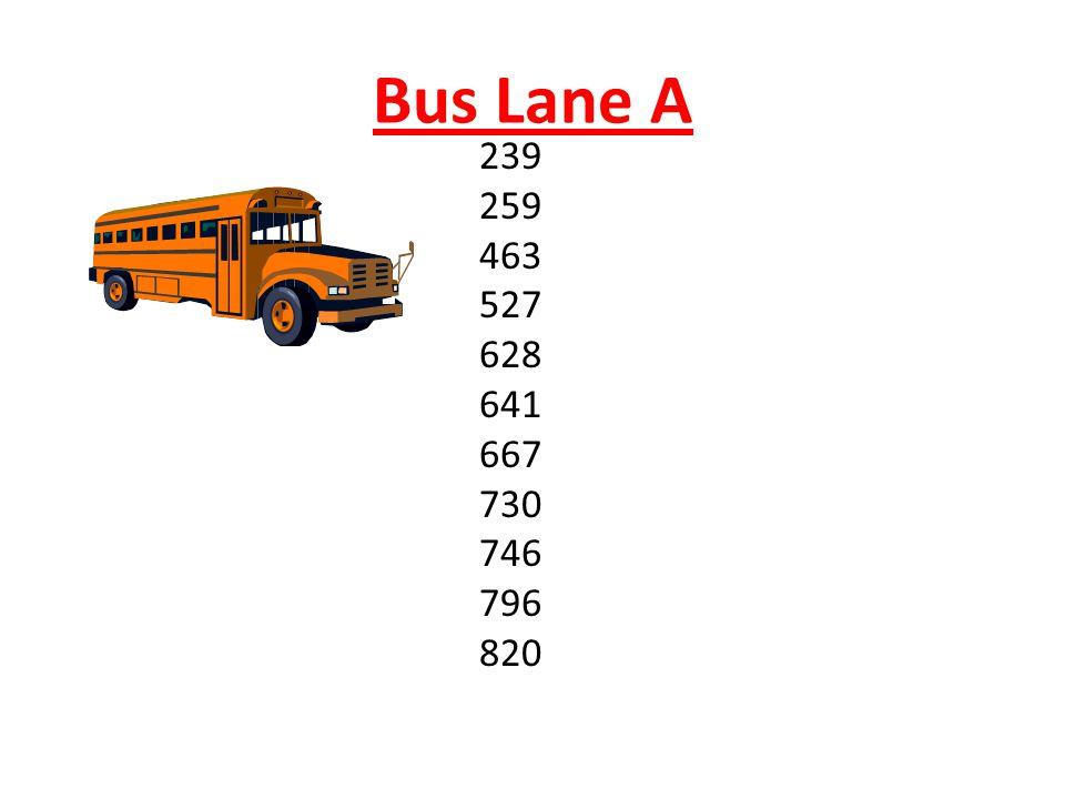 Bus Lane A 239 259 463 527 628 641 667 730 746 796 820